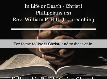 In Life or Death - Christ