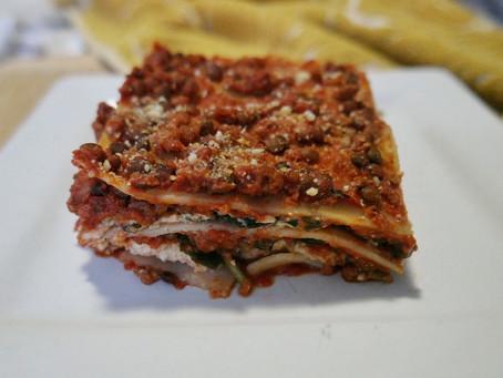 Vegan Meaty Spinach & Ricotta Lasagna