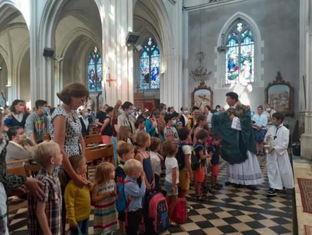 Messe de rentrée de l'école et du collège St Julien.