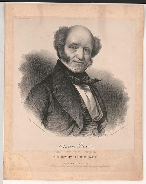 Portrait of Martin Van Buren, 8th President of the U.S.