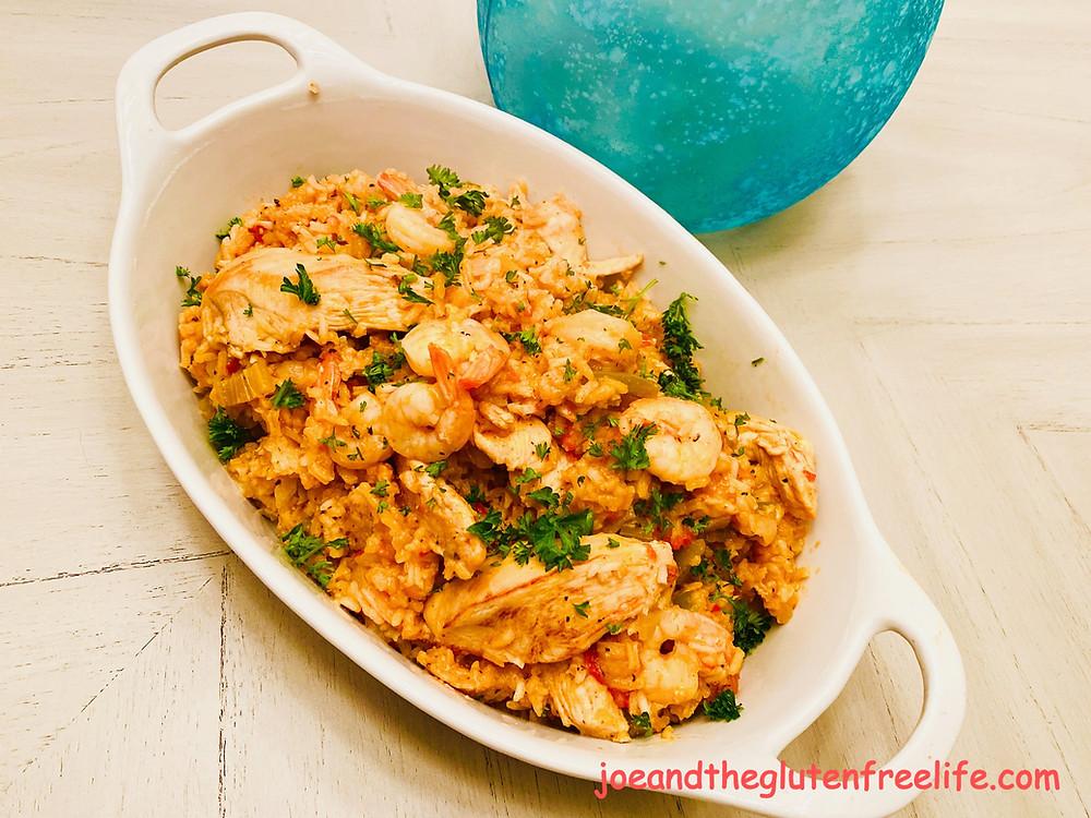 Chicken Jambalaya with Shrimp