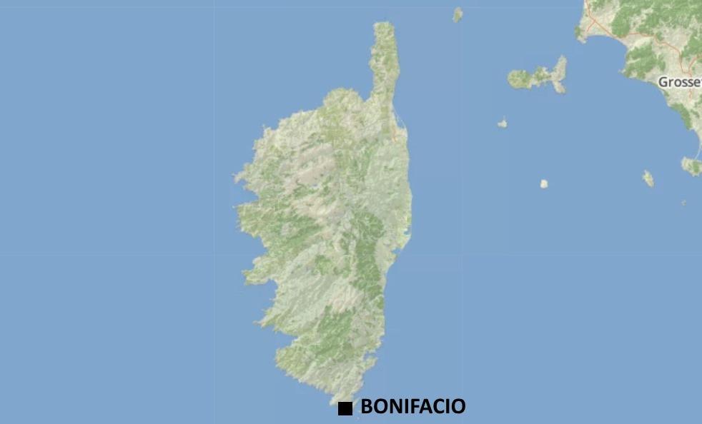 Carte falaise Bonifacio