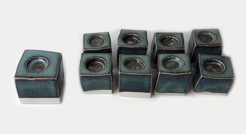 Ceramic versatile Menorah Squares
