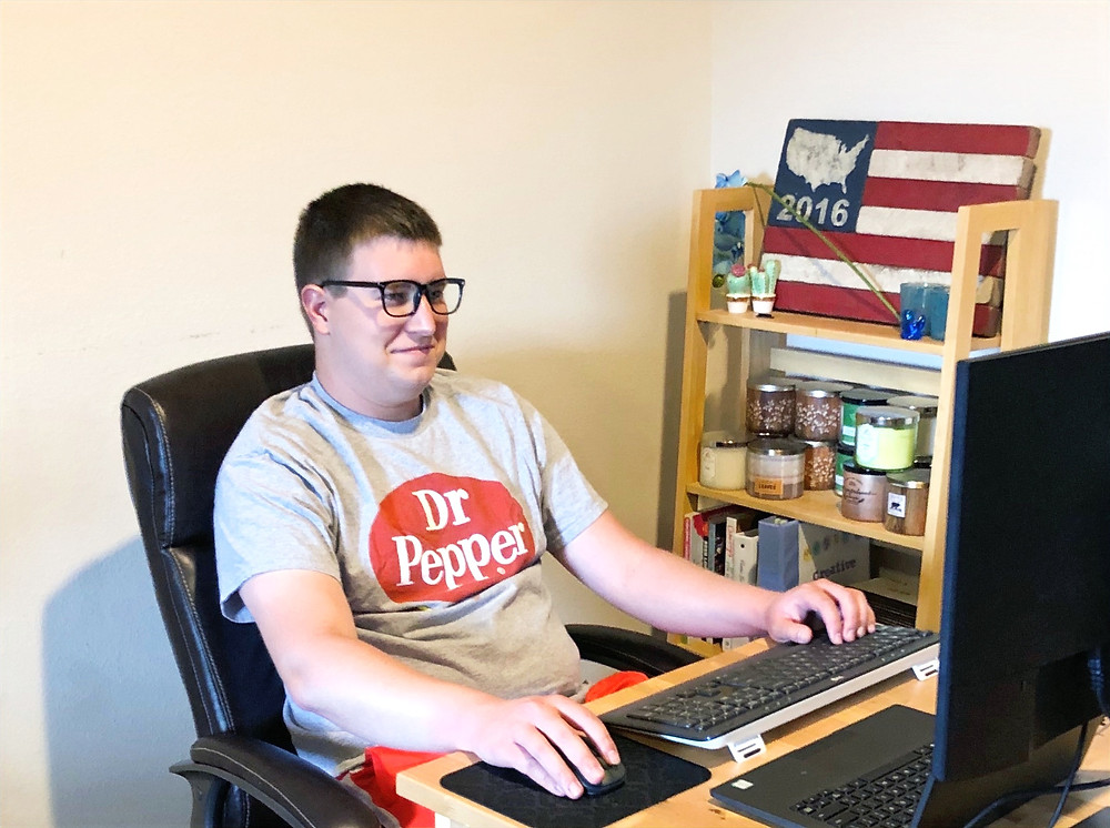 Christian Shinbeckler working from home