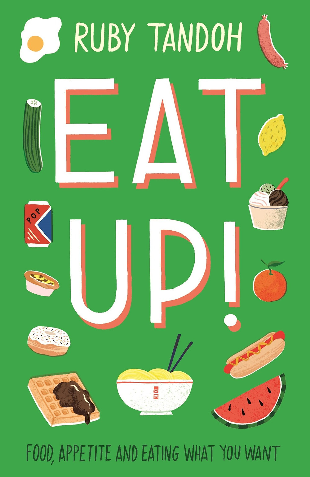 Eat Up: Food, Appetite and Eating What You Want Ruby Tandoh (Author) the book slut essays thebookslut book reviews. Think about that first tickle of hunger in your stomach. A moment ago, you could have been thinking about anything, but now it's thickly buttered toast, a frosty scoop of ice cream straight from the tub, some creamy, cheesy scrambled eggs or a fuzzy, perfectly-ripe peach. Eating is one of life's greatest pleasures. Food nourishes our bodies, helps us celebrate our successes (from a wedding cake to a post-night out kebab), cheers us up when we're down, introduces us to new cultures and - when we cook and eat together - connects us with the people we love. In Eat Up, Ruby Tandoh celebrates the fun and pleasure of food, taking a look at everything from gluttons and gourmets in the movies, to the symbolism of food and sex. She will arm you against the fad diets, food crazes and bad science that can make eating guilt-laden and expensive, drawing eating inspiration from influences as diverse as Roald Dahl, Nora Ephron and more. Filled with straight-talking, sympathetic advice on everything from mental health to recipe ideas and shopping tips, this is a book that clears away the fog, to help you fall back in love with food. Product Details Price: $15.95  $14.67 Publisher: Serpent's Tail Published Date: April 30, 2019 Pages: 256 Dimensions: 5.1 X 0.8 X 7.8 inches | 0.45 pounds Language: English Type: Paperback ISBN: 9781781259603 BISAC Categories: Agriculture & Food