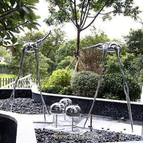 Hand Hammered Stainless  Steel Artworks  In Hong Kong - Henderson Land Development Co. Ltd.