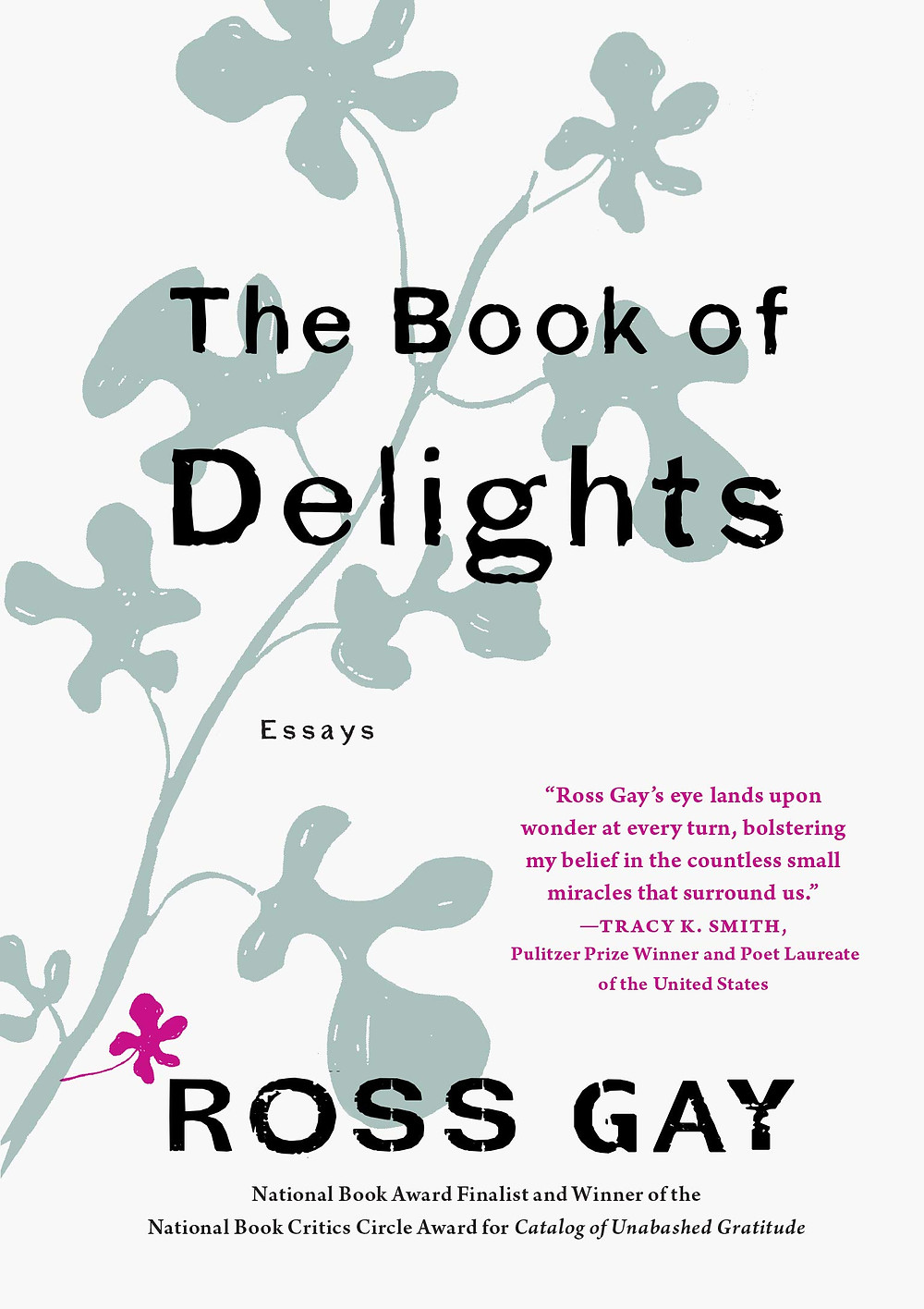 The Book of Delights by Ross Gay : the book slut book reviews thebookslut best floral book covers valentines day books