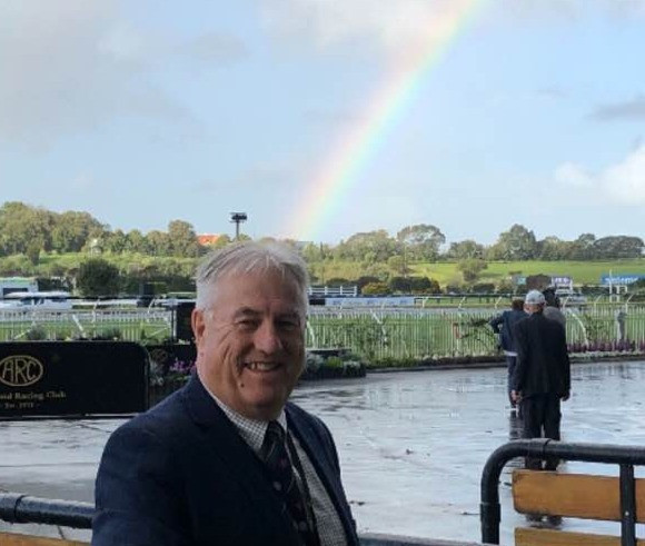 You may not find a pot of gold at the races but you'll always see Heapsy's friendly smile!
