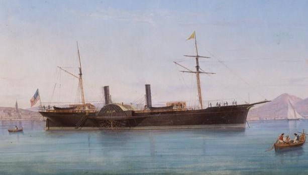 SS Quaker City, Bay of Naples