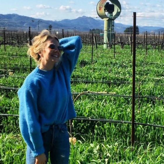 relaxing in the vineyards