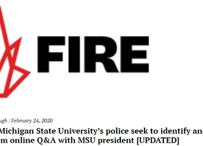 FIRE Blasts MSU Student Gov. for Attempted First Amendment Violations