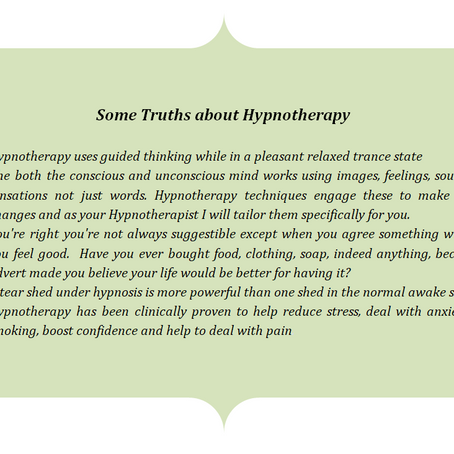 Some truths about Hypnotherapy from my own experience