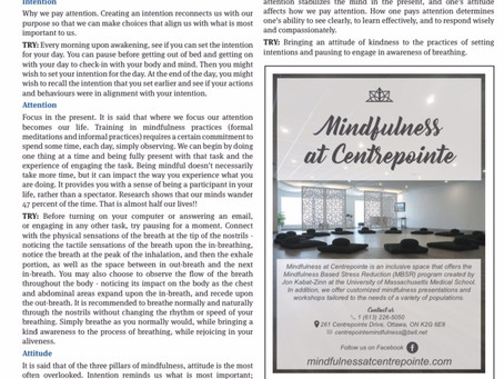 The Three Pillars of Mindfulness~By Carole Trépanier