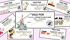Vales personalizados para tu viaje a Disneyland Paris