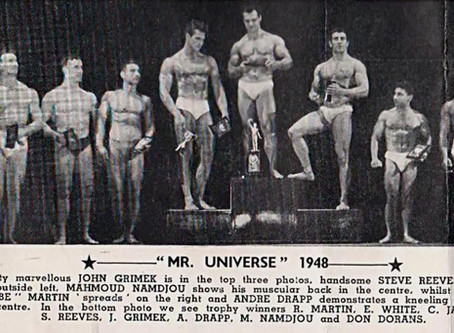 MR UNIVERSE 1948..Start of the dream