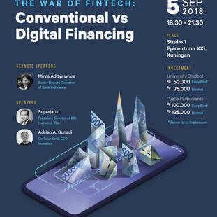 """CEO TALKS BEYOND THEORY """"The War of Fintech 'Conventional' VS 'Digital Financing"""""""