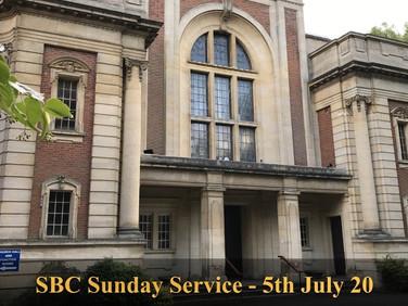 Sunday Service - 5 July 20