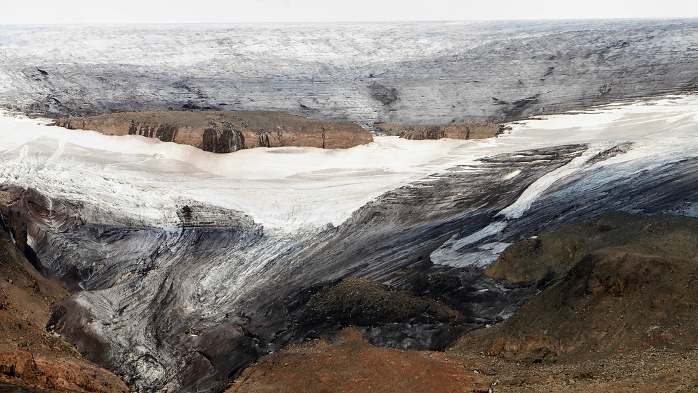 nearby Drangajökull Glacier, Iceland scenic view drone shot aerial photography hoverhigher