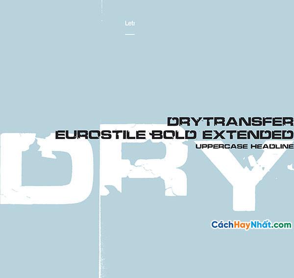 Font Chữ DryTransfer Eurostile Bold Extended v1.010 Free