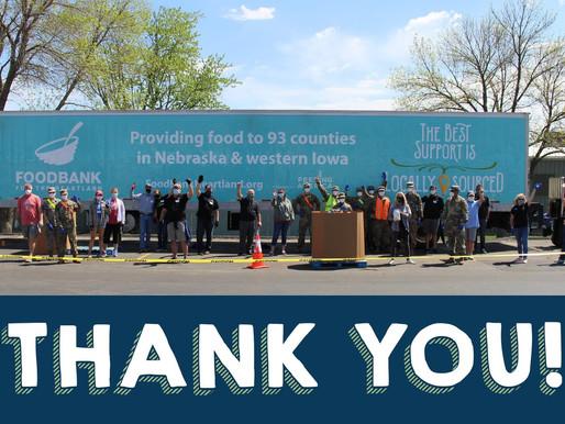 Nebraska Food Bank thanks Iowa Knights