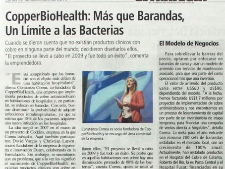 Estrategia | CopperBioHealth: Más que barandas, un límite a las bacterias