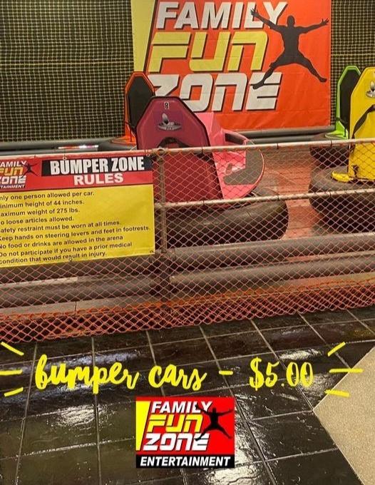 Bumper Car Advertisement, Courtesy of Family Fun Zone