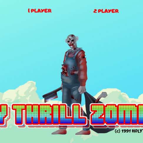 HOLY THRILL ZOMBIES VIDEO GAME