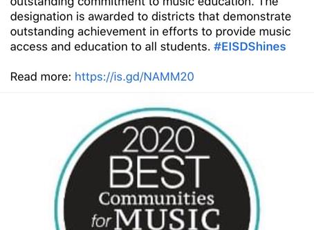 Musical Eanes 6th NAMM Honor