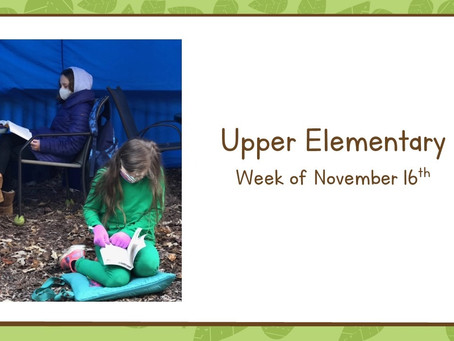 Upper El, 11/16-11/20:  Projects, Pizza, and a Puzzling Escape Room!