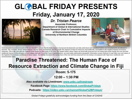 Global Friday Presents: Dr. Tristan Pearce