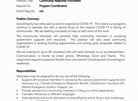 Community Response Volunteer job posting