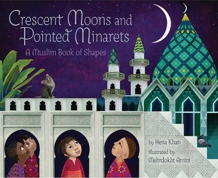 children from various Muslim countries look at the crescent moon