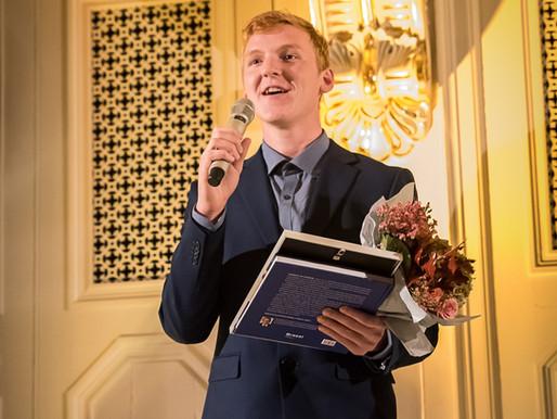 Jonatan won the Ljungberg Foundation's technical scholarship