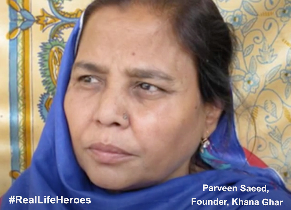 Parveen manages to feed about 2,000 people each day and provides stable employment to a handful of workers