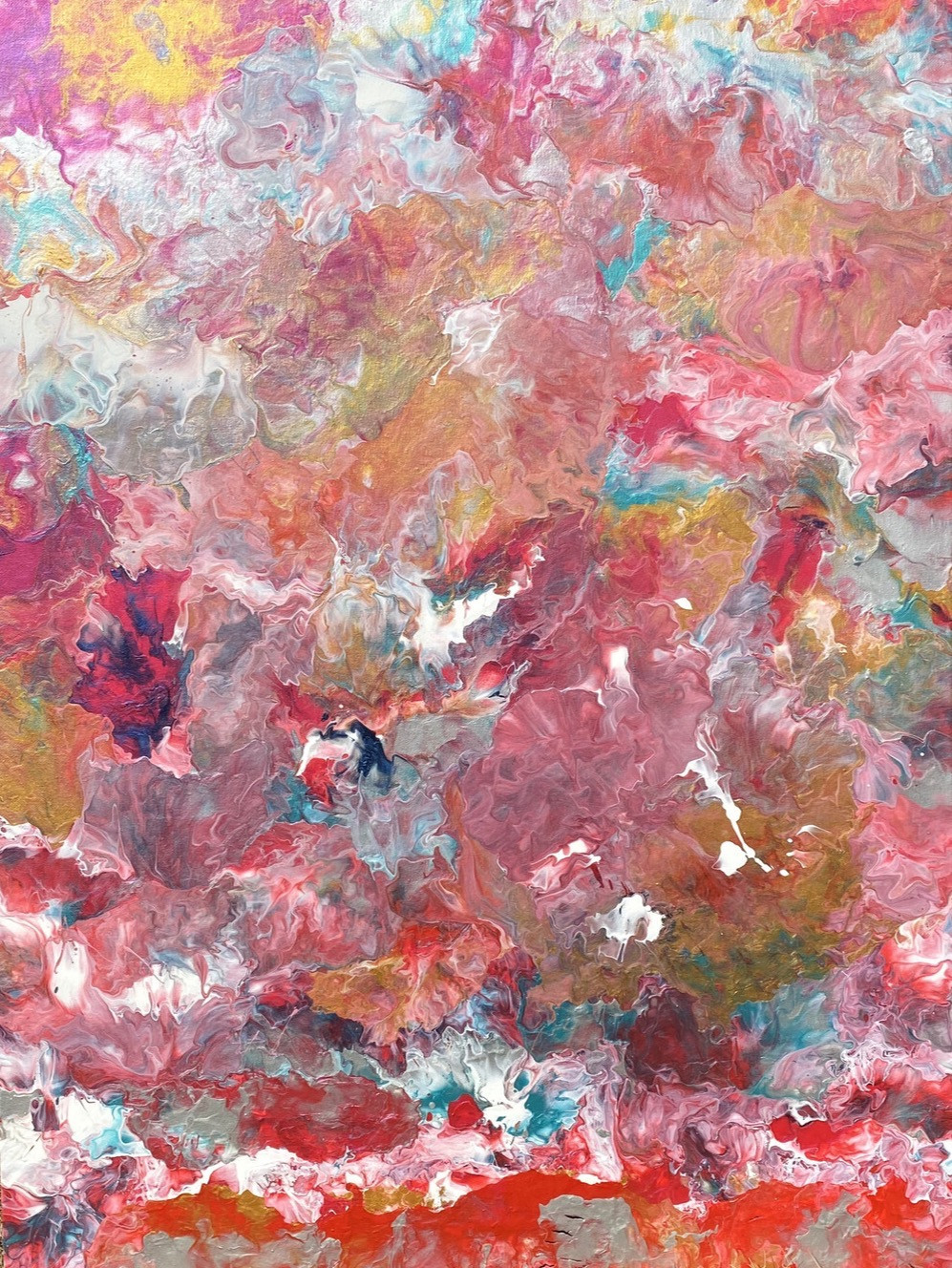 Fluid painting by Alessia Camoirano Bruges and poetry