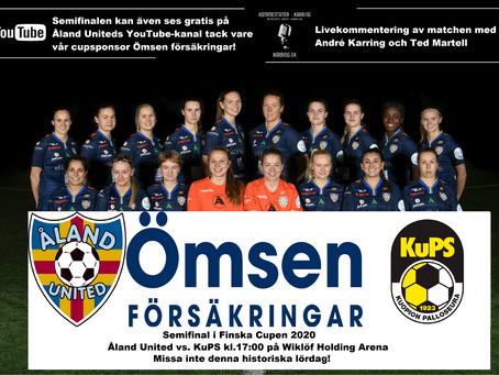 Åland United sänder Semifinalen tillsammans med Ömsen och Kommentator Karring