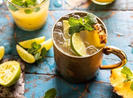 Skinny Pineapple Tequila Mule