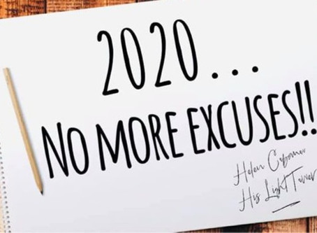 THIS IS THE YEAR WE STOP MAKING EXCUSES!