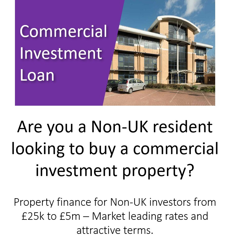Commercial Investment Loan Available from £25,000 to £5 million