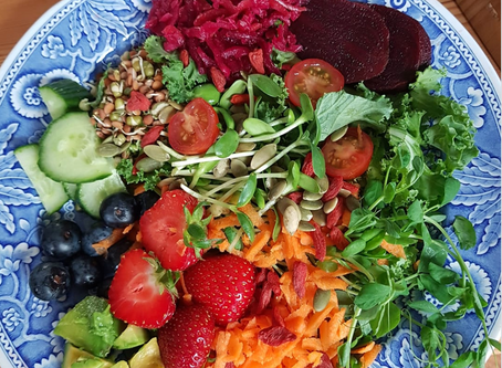 A rainbow on my plate- recipe for summer salad