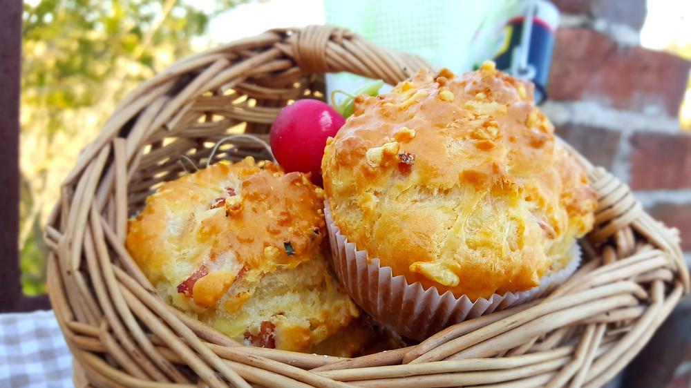 Schinken-Käse-Muffins, Vatertag, backen, Rezept, Radieschen, Schinken, Käse, Muffins, Bier, Küstencookie, Kuestencookie, deftig, herzhaft, herzhafte Muffins