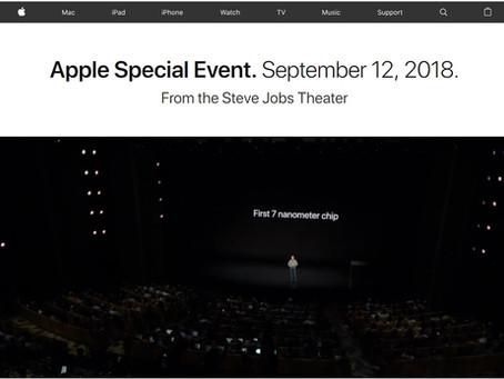 Evento Apple 2018
