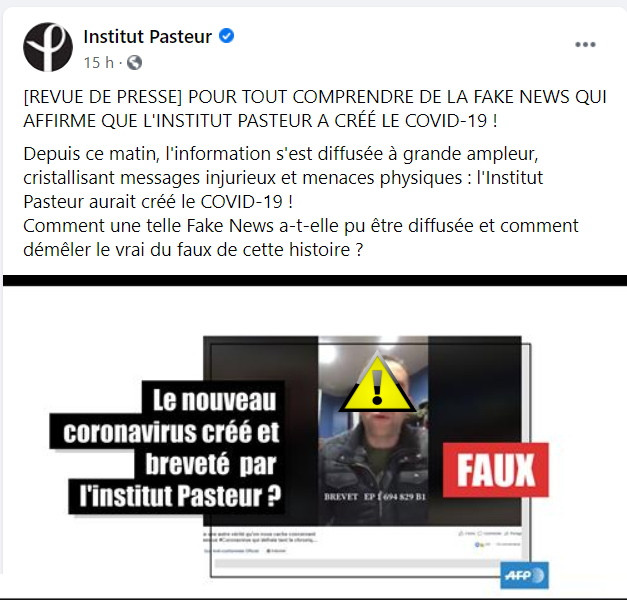 Institut Pasteur Fake News