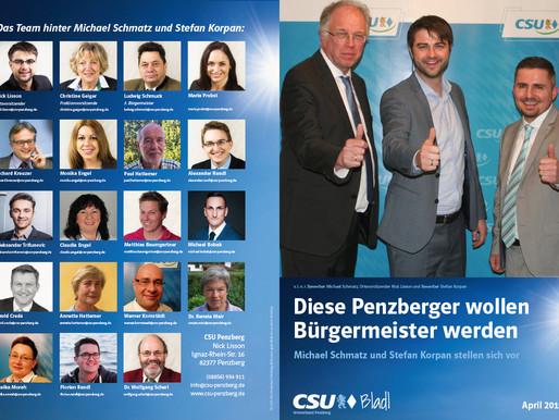 Bürgermeisterkandidatur: Schmatz und Korpan stellen sich im CSU Bladl vor