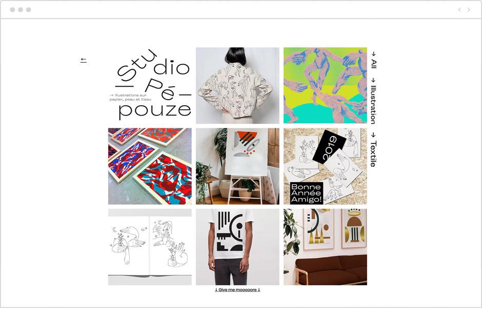 Exemple de portfolio - Studio Pepouze