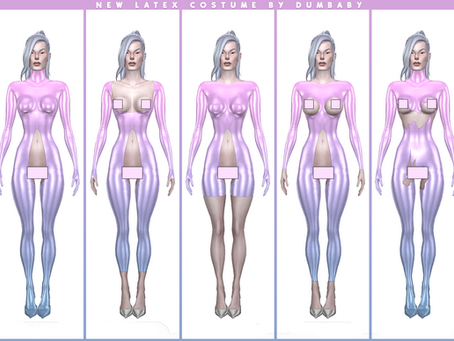DOWNLOAD NEW Female Latex Costume / 5 versions