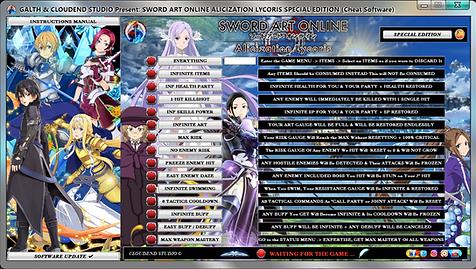 Sword Art Online Alicization Lycoris Nor