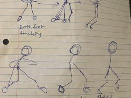 Body Mechanics Shot- Hitting a tennis ball.