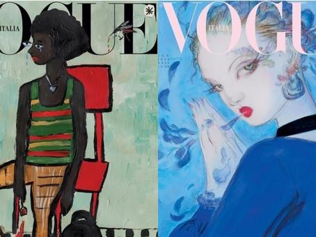 Vogue Itália renuncia a fotografias e lança edição sustentável.