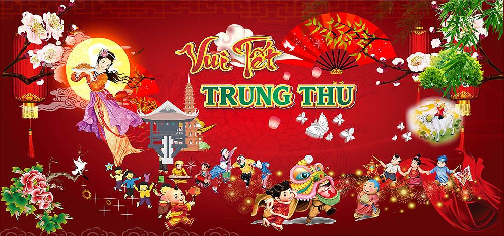 Background Backdrop Trung Thu Vector Corel CDR Part16